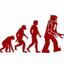 The evolution of robots.