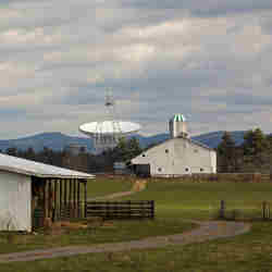 The National Radio Astronomy Observatorys Robert C. Byrd Green Bank Telescope in rural West Virginia.