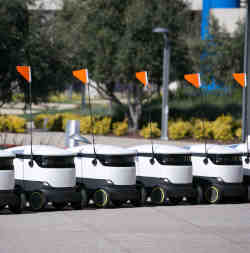 Delivery robots.