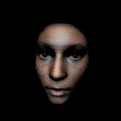 Scanning the face of a black woman.