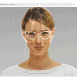 A virtual eyeglasses fitting.