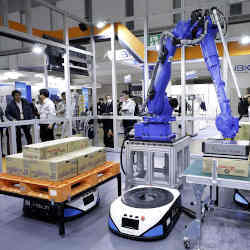 A demonstration of Mujin Inc.s robot.