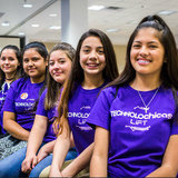 middle school girls in TECHNOLOchicas LiFT T-shirts