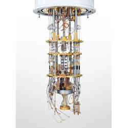 A quantum computer during assembly.