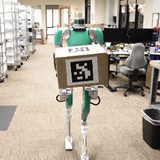 robot carrying a box