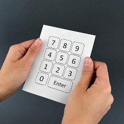 paper with keypad interface
