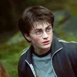 Daniel Radcliffe as Harry Potter in the blockbuster movie series.