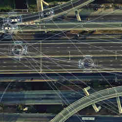 The software tracks other vehicles, with an eye toward avoiding accidents.