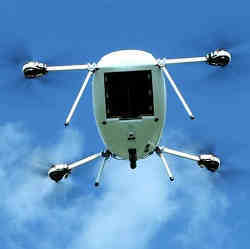 The Manna drones can carry up to about 9 lbs.