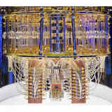The interior of IBM's Quantum Computer.