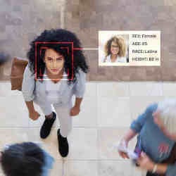 A facial recognition misidentification.