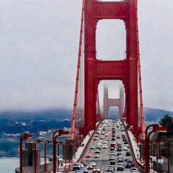 traffic on the Golden Gate Bridge