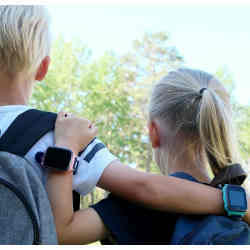 Children wearing smartwatches.