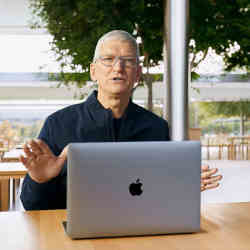 Tim Cook made the announcement at Apple headquarters in Cupertino, CA, on Tuesday.