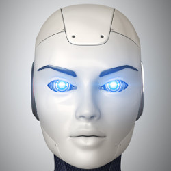 face of humanoid robot