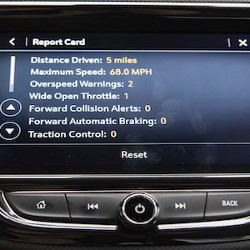 GM dashboard displays safety report card