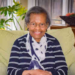 Gladys West at her home in Virginia.