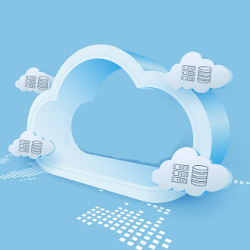 network at edge of cloud, illustration