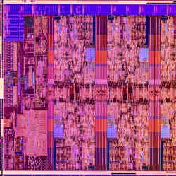 Layout of one of Intel's Comet Lake S-series CPUs, featuring two more cores than prior generations.