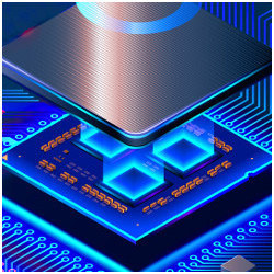 futuristic microchip, illustration