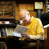 Donald Knuth reading 'The Art of Computer Programming'