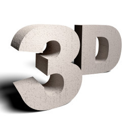 '3D' as three-dimensional characters