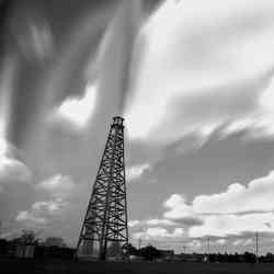 An oil well blowout.