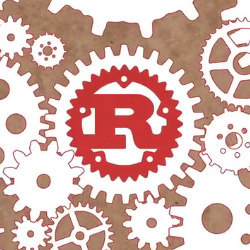 gears and Rust icon, illustration