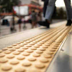 An example of tactile paving.