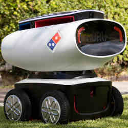 Domino's pizza delivery robot.